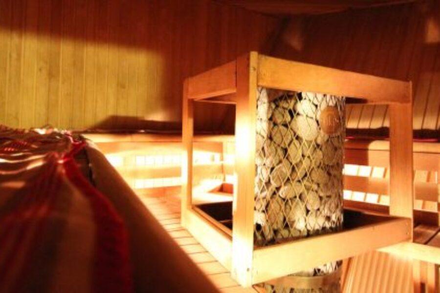 Sauna na statku wojennym.