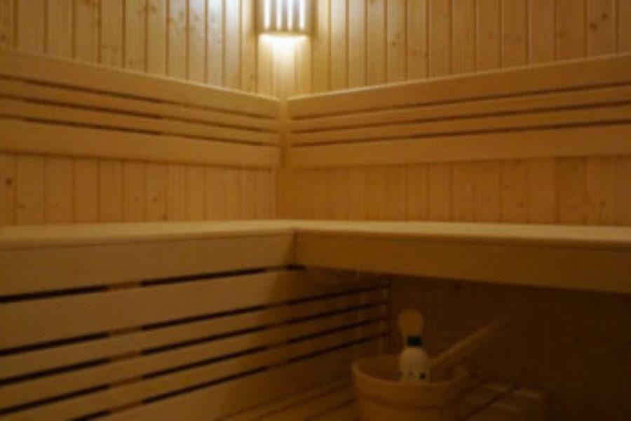 Piękna sauna w starej piwnicy